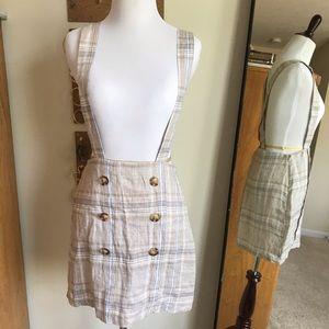 Forever 21 plaid overalls dress
